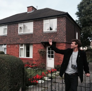 Arto outside the house Morrissey grew up in. Photo: Tom Karangelov