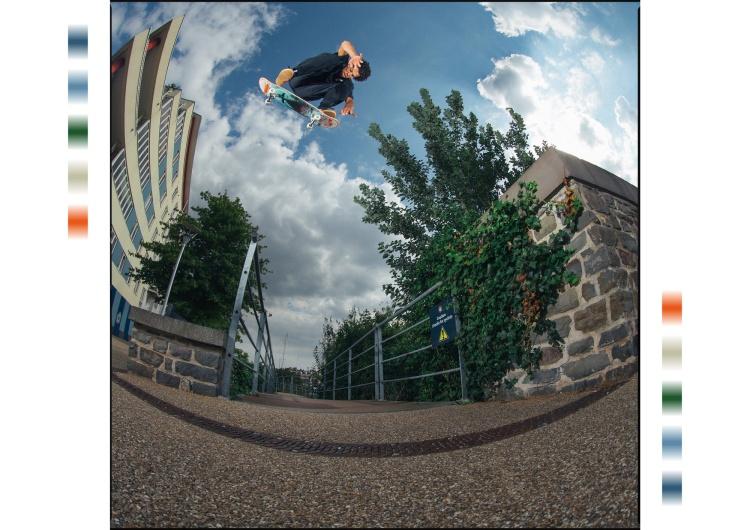 Korahn Gayle, Switch Switch Backside Heelflip, Photo: Chris Johnson.