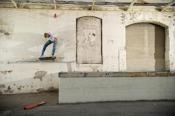 Johan Stuckey_kickflip 5050_loading dock rail Chinatown(sized)