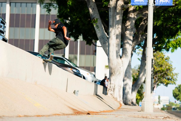 Vincent Alvarez, Frontside Rock, Whittier, Photo - Ben Colen