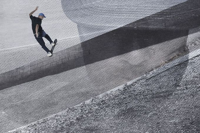 Eric Koston, Frontside Bluntslide, Photo - Nike SB.