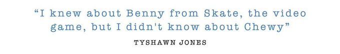 Benny Fairfax and Chewy Cannon Sidewalk Mag 'Away Days' Interview - Tyshawn Jones pull quote.