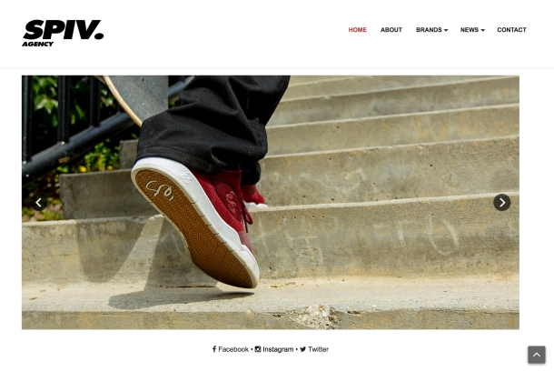 Spiv Agency homepage eS slider