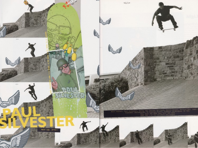 Paul Silvester half cab Leeds Unabomber Skateboards advert