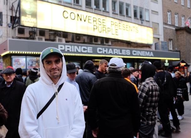 Aaron Herrington Prince Charles Cinema Converse Cons Purple Premiere London photo Farran Golding