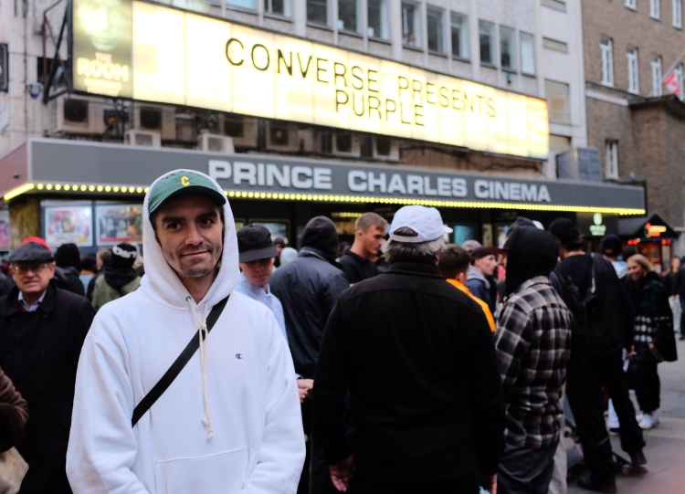 Aaron Herrington Prince Charles Cinema Converse Cons Purple Premiere London photo Farran Golding