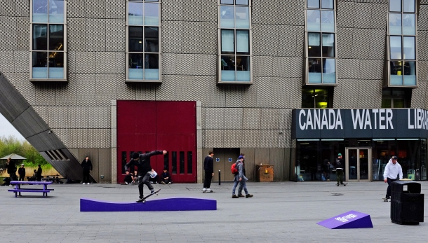 Chris Oliver Crooked Canada Water Converse Cons Purple Session London photo Farran Golding