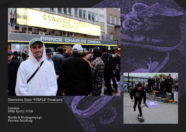 Converse Cons Purple London Premiere Recap Aaron Herrington Sean Pablo Header Sidewalk Magazine words and photography by Farran Golding