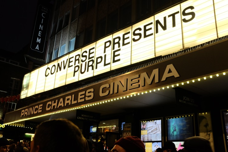 Converse Cons Purple Premiere Prince Charles Cinema London Premiere Sidewalk Magazine Recap photo Farran Golding