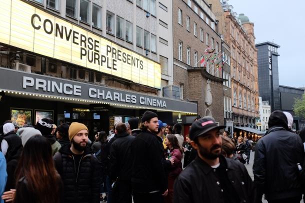 Prince Charles Cinema Ben Chadourne Converse Cons Purple London Premiere