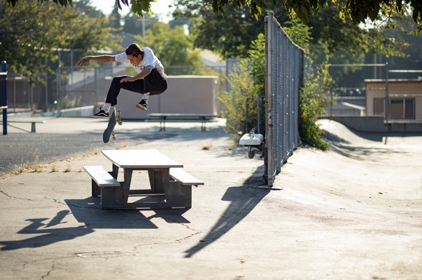 Elijah Berle 360 Flip Sunland California photo Anthony Acosta Vans Welcome Skate Store Corey Duffel Interview