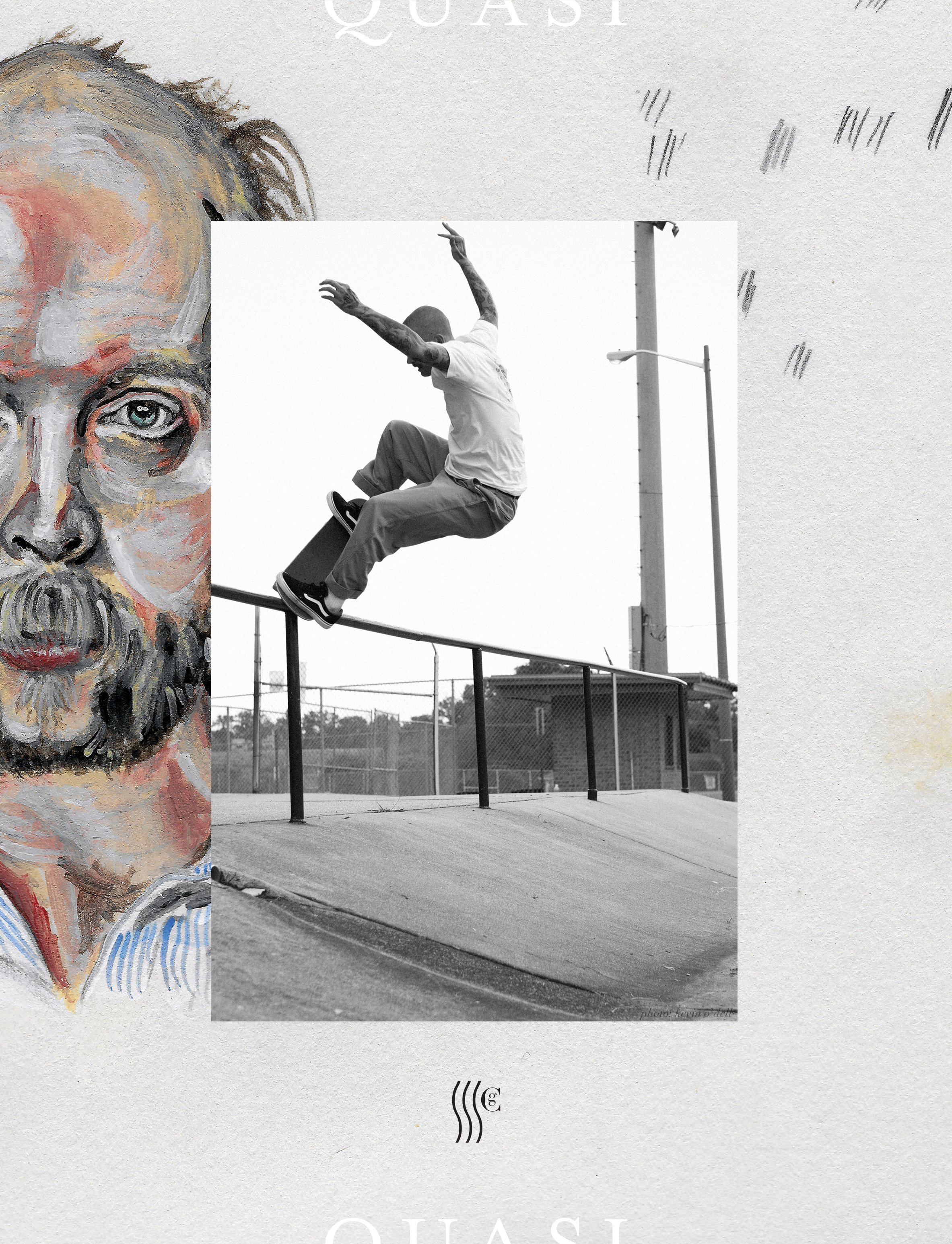 Gilbert Crockett, nosegrind, Will Oldham Quasi Skateboards advert.