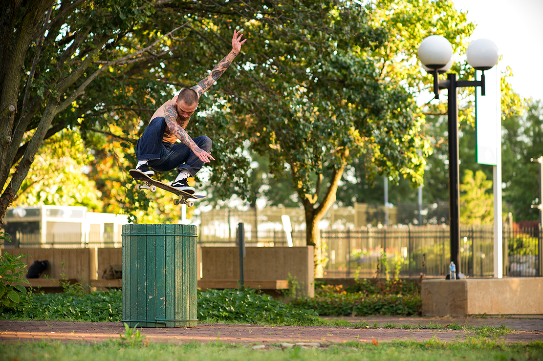 Gilbert Crockett, switch ollie, Richmond, Virginia. photo: Brent O'Donnell