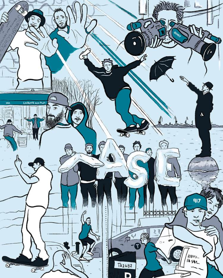 The Best Skateboard Videos of the 2010s — QS Reader Survey Results illustration by Cosme Studio
