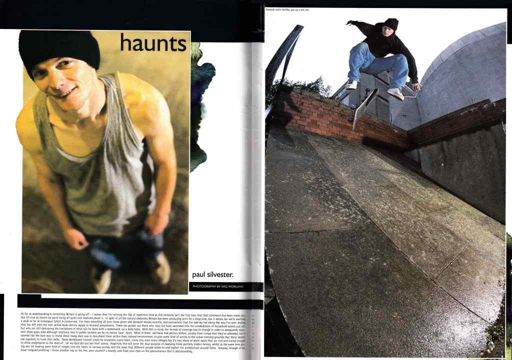 Paul Silvester 'Haunts' Interview from Sidewalk Magazine #13, Jan/Feb 1997 - Spread 1
